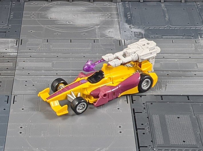 TF CW Dragstrip Slim Car Cannon 3d printed Rear mounted with Adapter