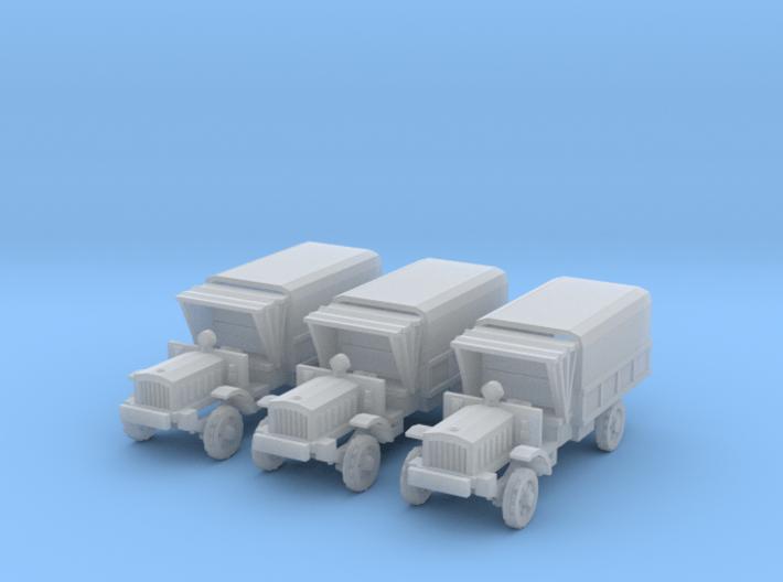 1/220 scale WW1 light trucks 3d printed