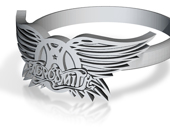 Aerosmith Ring 3d printed