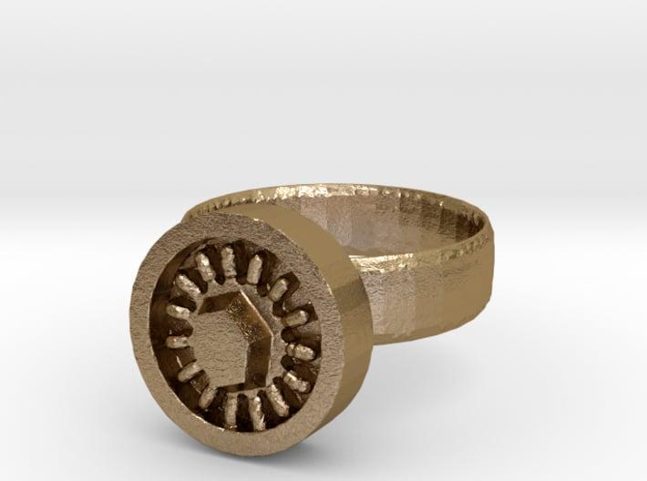 Sun Topaz Ring 3d printed
