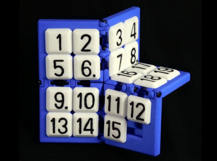15+4 puzzle (Frame) 3d printed Complete puzzle with tiles