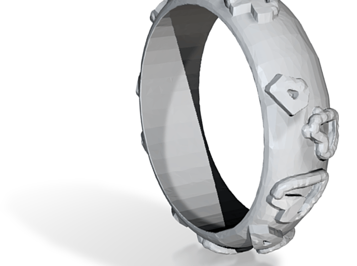 Leopard Print Ring - Sz. 5 3d printed