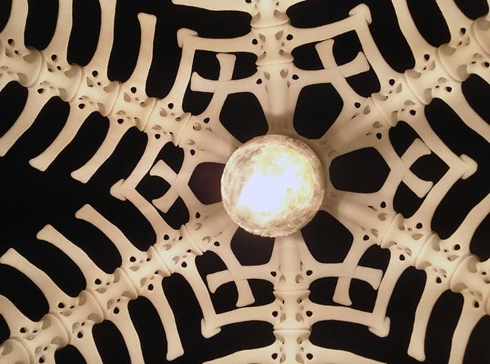 Vertebral 03 - Pendant Lampshade 3d printed