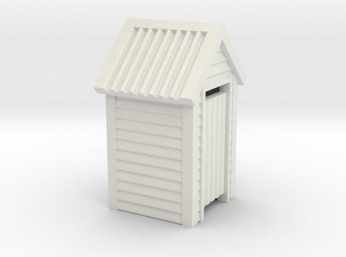 HO Scale Wooden Outdoor Toilet Dunny 1:87 3d printed