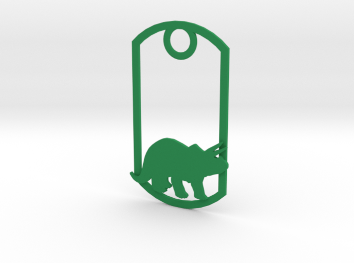 Triceratops dog tag 3d printed