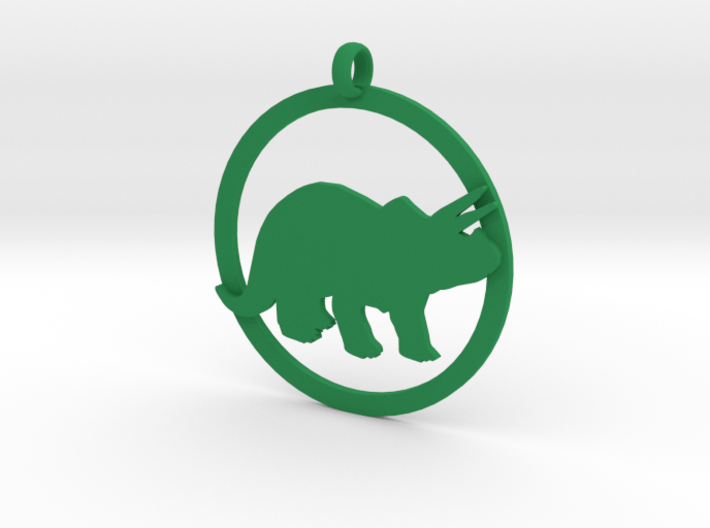 Triceratops charm 3d printed