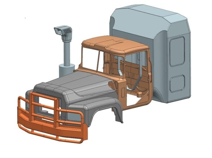 Bull-bar-Valueliner-hood 3d printed