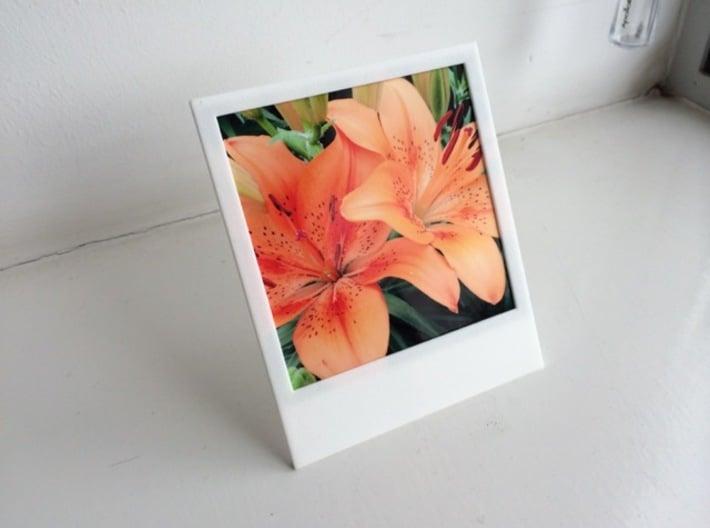 Polaroidesque photo frame 3d printed