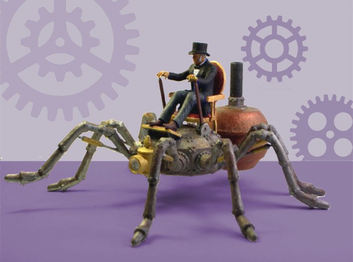 Mr. Gladstone's Arachnopede Conveyance 3d printed A painted 3D print