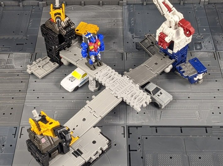 TF Seige Earthrise Kingdom Long Ramp 3d printed Combined with the Bridge Support parts