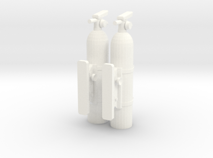 Fire-extinguisher-with-mount-x2 (repaired) 3d printed