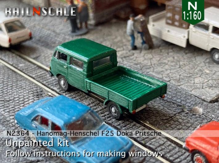 Hanomag-Henschel F25 Doka Pritsche (N 1:160) 3d printed