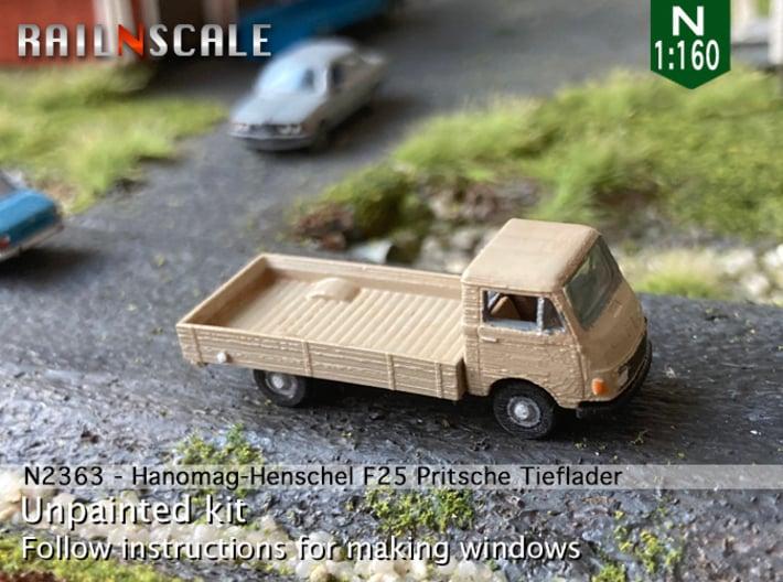 Hanomag-Henschel F25 Pritsche Tieflader (N 1:160) 3d printed