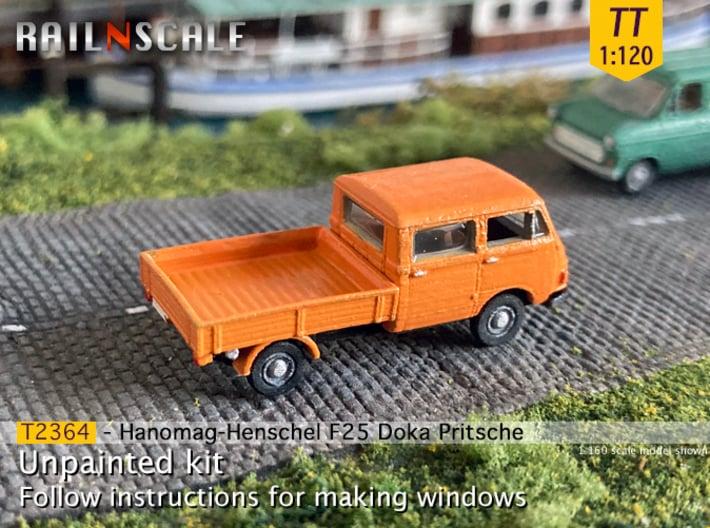 Hanomag-Henschel F25 Doka Pritsche (TT 1:120) 3d printed