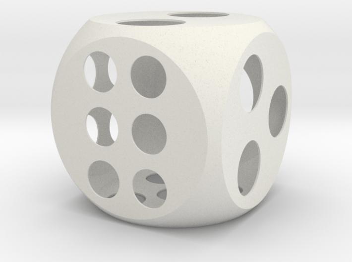 Balanced Dice 4in 3d printed