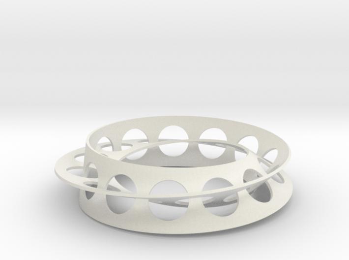 Golden Ratio Moebius Double Strip 3d printed