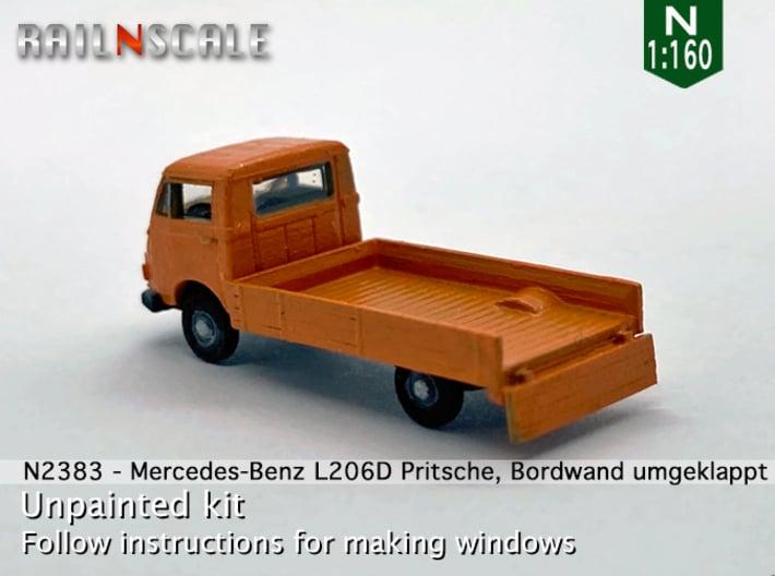 Mercedes-Benz L206D Pritsche (N 1:160) 3d printed