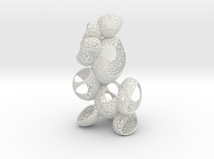 bubbles twist frame 3d printed