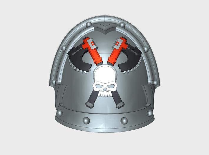 10x Skull Grinders 2- Abhorrent Shoulder Pads 3d printed