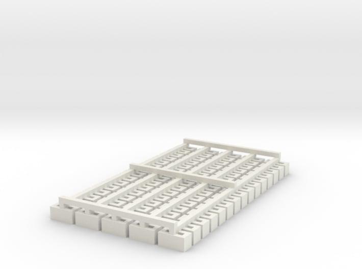 Cinder Block Loose 75 Pack 1-87 HO Scale 3d printed
