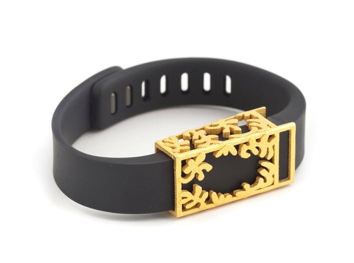 Steel Matisse slide for Fitbit Flex 3d printed Fitbit Flex accessory in 24K polished gold steel