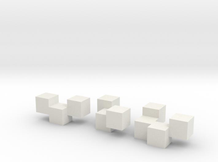 Three Block Puzzle 3d printed
