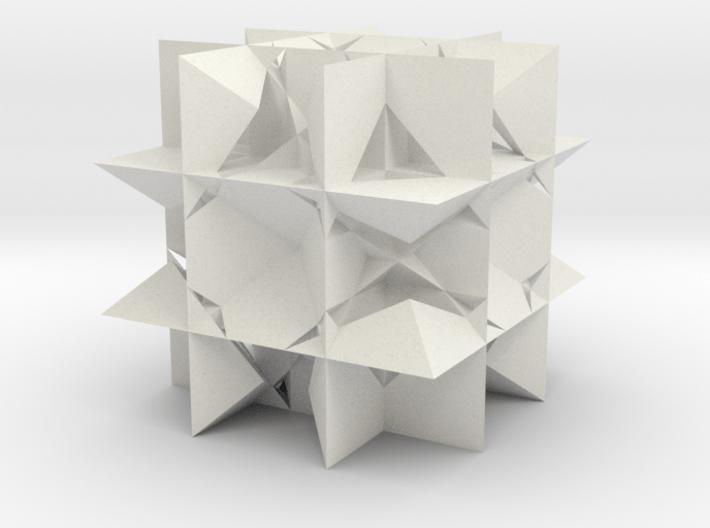 Uniform Gt, Rhombicuboctahedron 3d printed