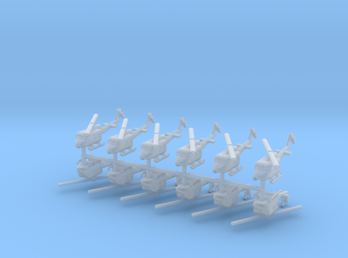 1/700 UH-1 Huey (x12) 3d printed