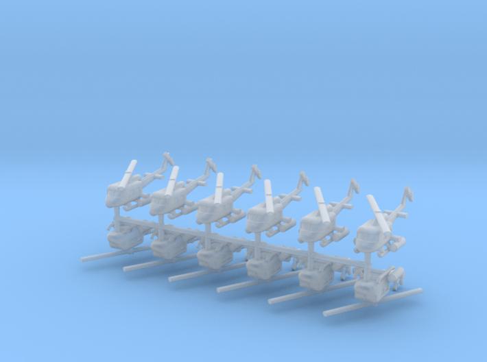 1/700 UH-1 Gunship (x12) 3d printed