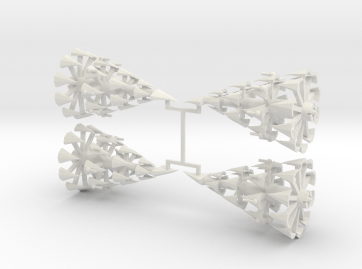 6 Spindle Cruiser x4 3d printed