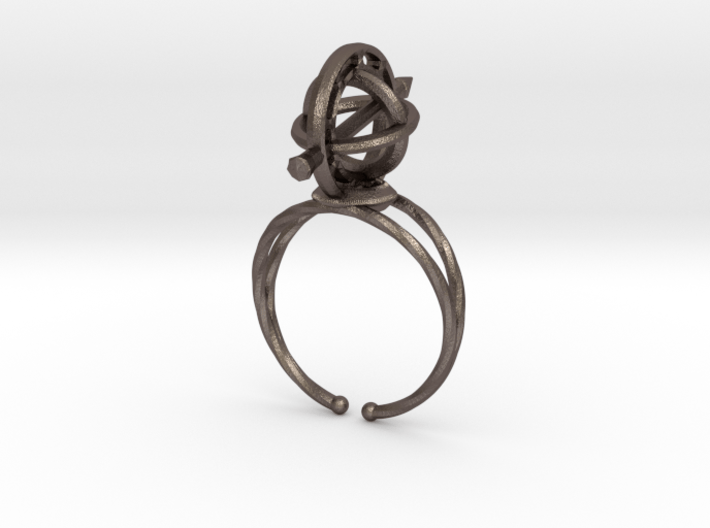 Armillary Ring 3d printed