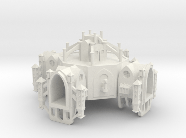 Gothic Space Station 3d printed