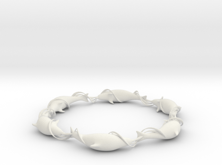 Dolphin Ring 3d printed