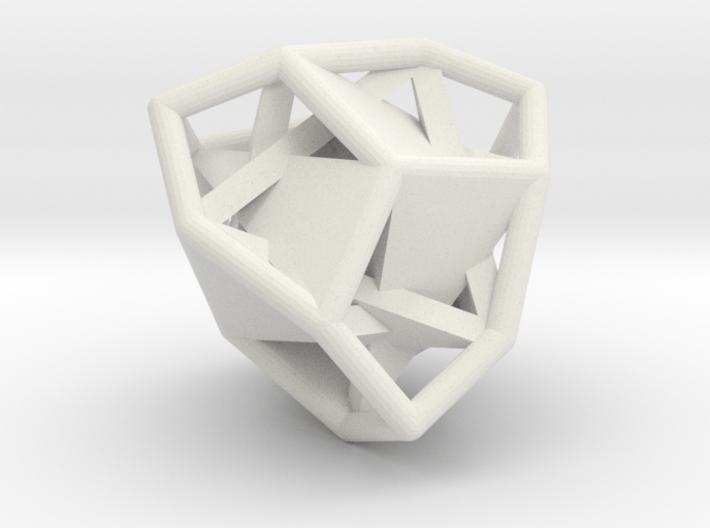 d12 tetartoid blank 3d printed