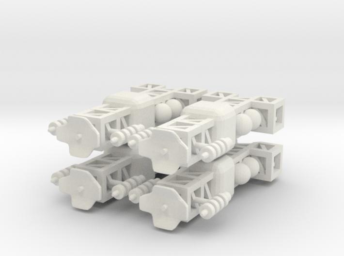 8 Small Spaceship x4 3d printed