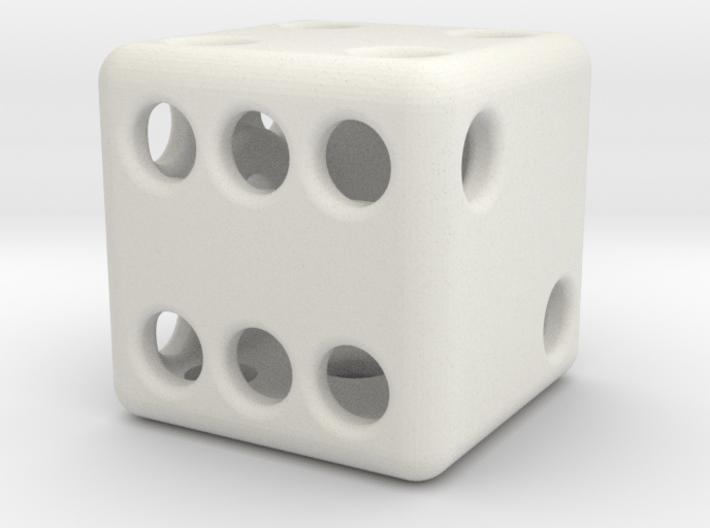 Balanced Hollow Dice (D6) (1.5cm) (Method 1) 3d printed