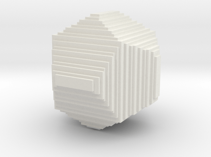 dodecahedron from cubes 3d printed