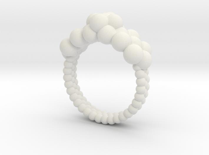 Neocube flower ring 16 3d printed