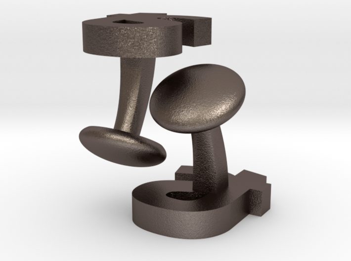 TS - Cufflinks 3d printed