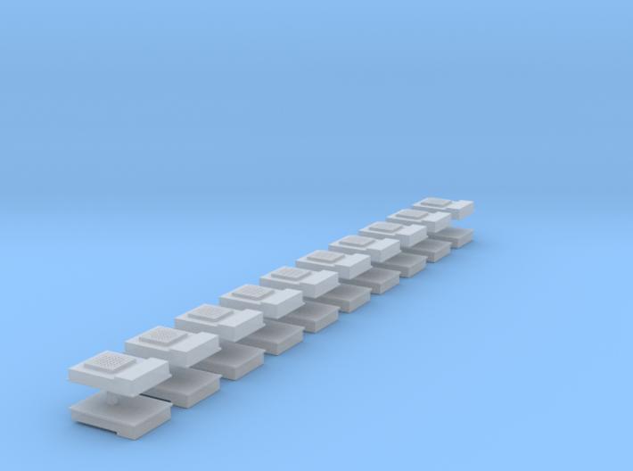 Locomotive A/C Units - Z scale 3d printed