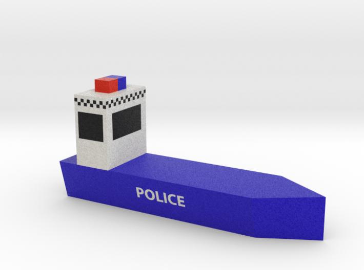 Police Boat 3d printed
