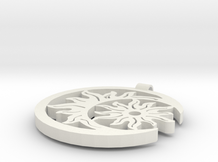 Sun and Moon pendant 3d printed