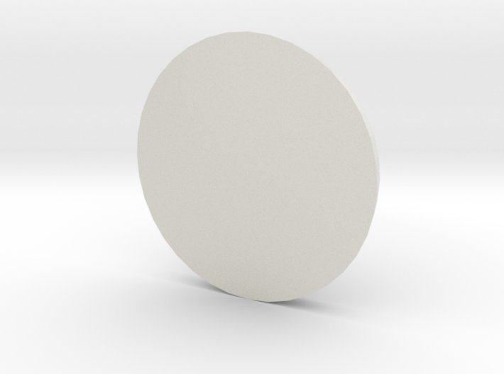 1 Inch Base Round 3d printed