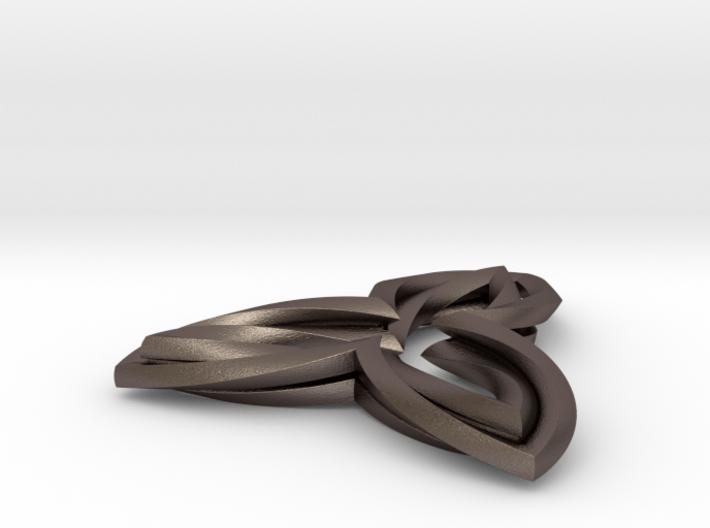 Triple Leaf pendant 3d printed