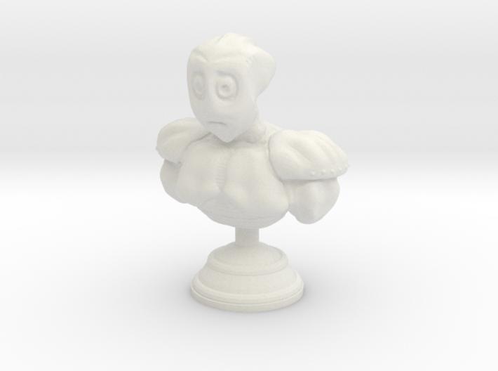 Sad Alien Bust 3d printed