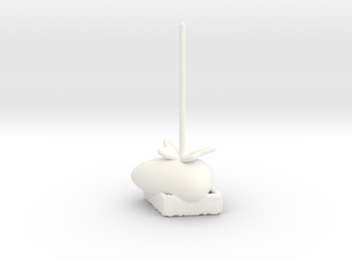 Butterfly Siitting On A Rock Ring Holder 3d printed