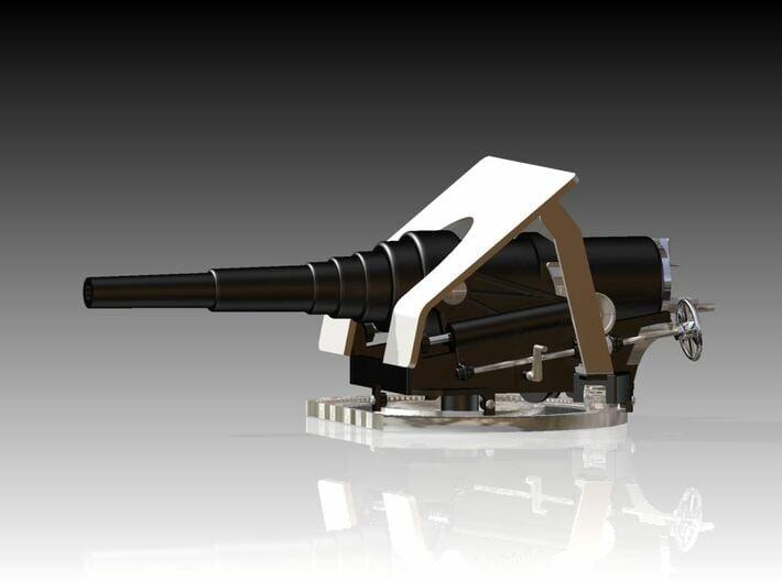 8 Inch 30 Calibre smooth bore canon 1880 1/128 3d printed