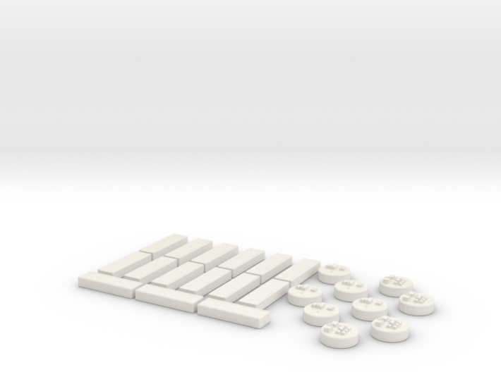 Immigrants of Bob Game Pieces - Red 3d printed