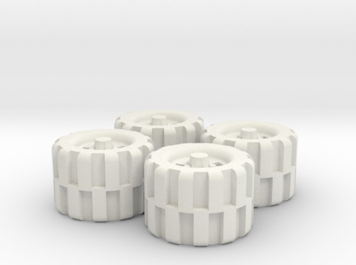 28mm Scale Off Road Tire Set 3d printed