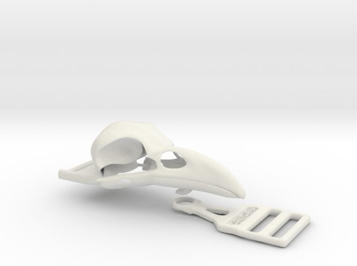 Raven buckle 3d printed